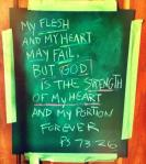 God is the strength of my heart Psalm 73 26
