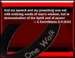 And my speech 1 Cor 2 4 w Banner